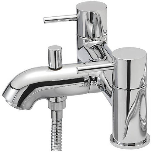 Additional image for Pillar Bath Shower Mixer Tap With Kit (Chrome).