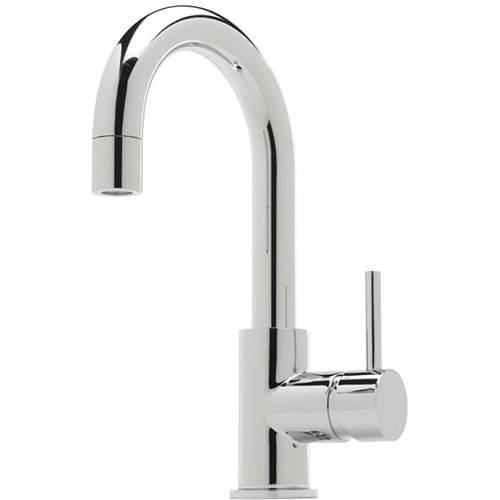 Additional image for Side Lever Basin Mixer Tap With Pop Up Waste (Chrome).