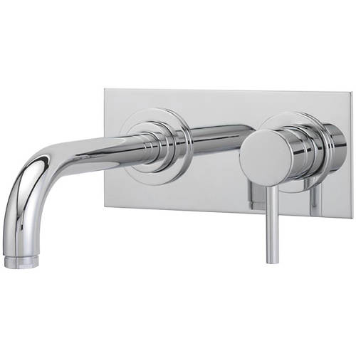 Additional image for Wall Mounted Basin Mixer Tap (205mm Spout, Chrome).