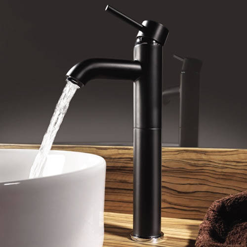 Additional image for Extended Basin Mixer Tap (Matt Black).