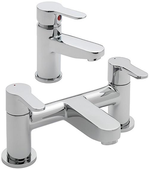 bath filler basin tap set chrome tre mercati lollipop tm lollipop bb. Black Bedroom Furniture Sets. Home Design Ideas