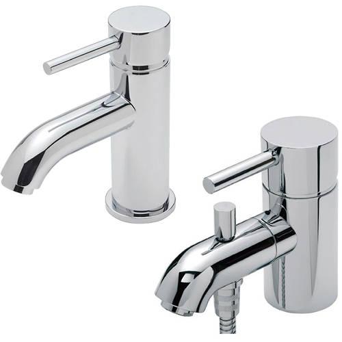 Additional image for Mono Basin & Mono Bath Shower Mixer Tap Pack (Chrome).