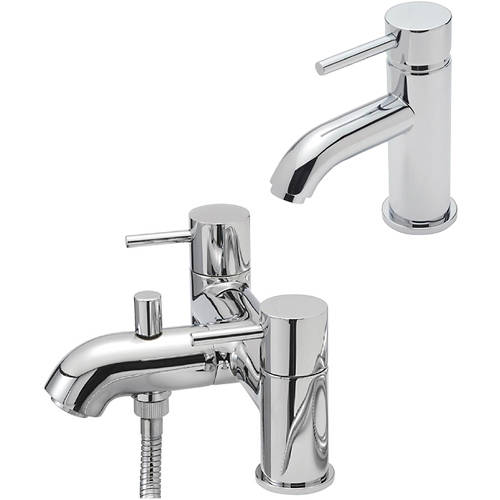 Additional image for Mono Basin & Pillar Bath Shower Mixer Tap Pack (Chrome).