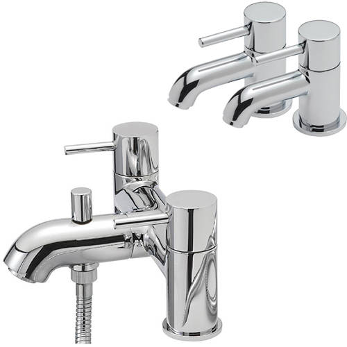 Additional image for Basin Taps & Bath Shower Mixer Tap Pack (Chrome).