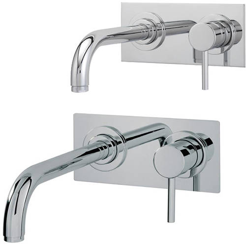 Additional image for Wall Mounted Basin & Bath Tap Pack (Chrome).