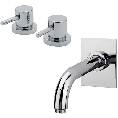 "Additional image for 3/4"" Side Valves & Bath Spout Pack (Chrome)."