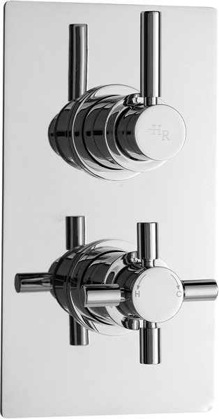 Additional image for Pura twin concealed thermostatic shower valve