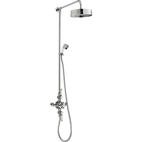 Additional image for Triple Thermostatic Shower Valve & Rigid Riser Set.