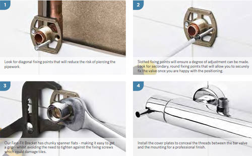 Additional image for Fast-Fit Bracket For Bar Shower Valves (Pair).
