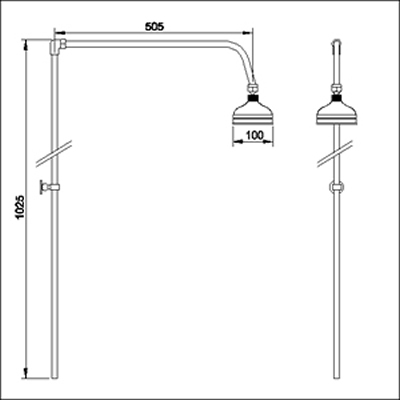 Additional image for Rigid riser kit with swivel head