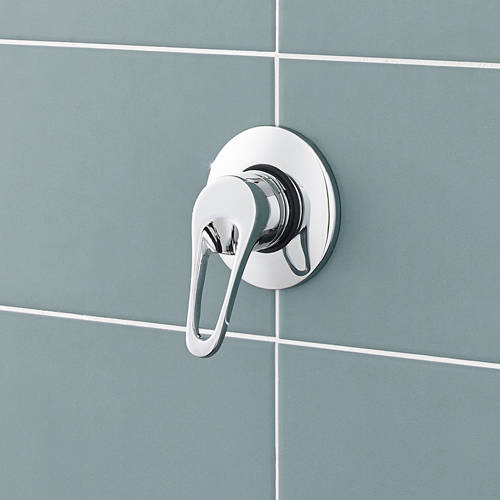 Additional image for Manual single lever shower valve, concealed or exposed.