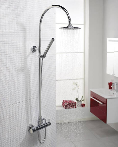 Additional image for Zephyr Shower Kit With Diverter (Chrome).