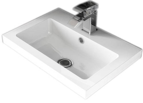 Additional image for Wall Vanity 400mm, Basin & WC Unit 600mm (Cashmere).