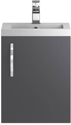 Additional image for Wall Vanity 400mm, Basin & WC Unit 600mm (Grey).