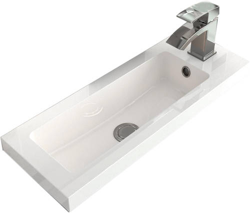 Additional image for Vanity Unit 500mm, Basin & WC Unit 600mm (Grey).