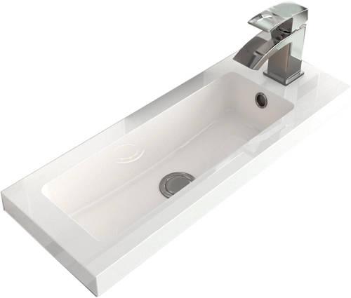 Additional image for Vanity Unit 600mm, Basin & WC Unit 600mm (Cashmere).