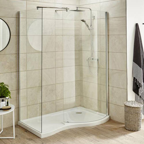 Additional image for Walk In Shower Enclosure & Tray (Right Handed, 1395x906).