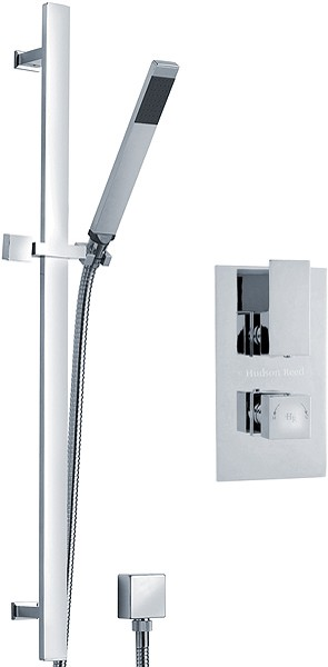 Additional image for Twin Thermostatic Shower Valve & Slide Rail Kit (Chrome).