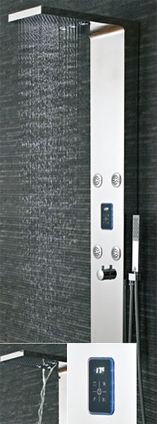 Additional image for Genie LED Thermostatic Shower Panel With Jets.