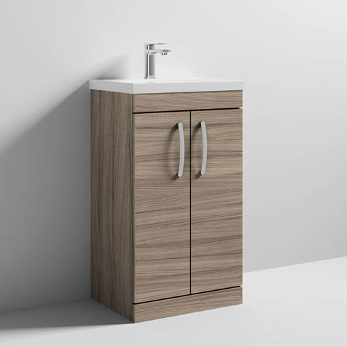 Additional image for Vanity Unit With 2 x Doors & Basin 500mm (Driftwood).
