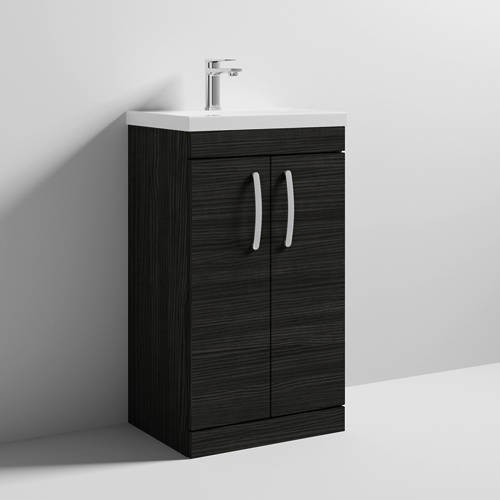 Additional image for Vanity Unit With 2 x Doors & Basin 500mm (Hacienda Black).
