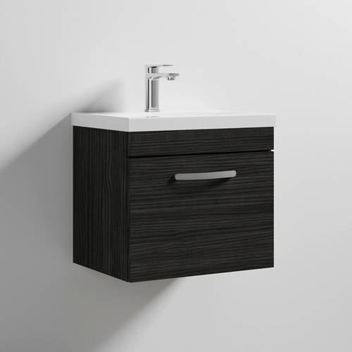 Additional image for Wall Vanity Unit With 1 x Drawer & Basin 500mm (Hacienda).