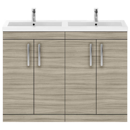 Additional image for Vanity Unit With 4 x Doors & Double Basin (Driftwood).