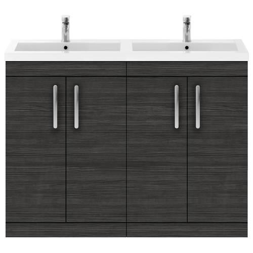 Additional image for Vanity Unit With 4 x Doors & Double Basin (Hacienda Black).