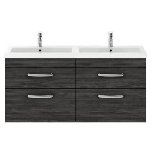 Additional image for Wall Vanity Unit With 4 x Drawers & Double Basin (Hacienda).