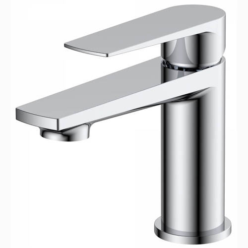 Additional image for Mini Basin Mixer Tap With Push Button Waste (Chrome).