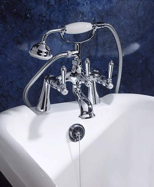 Additional image for Lever bath shower mixer with shower kit