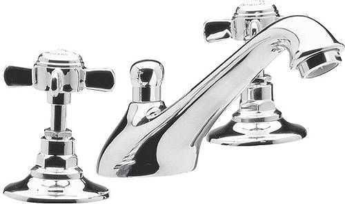 Additional image for 3 Hole Basin Mixer & Bath Shower Mixer Tap Pack (Chrome).