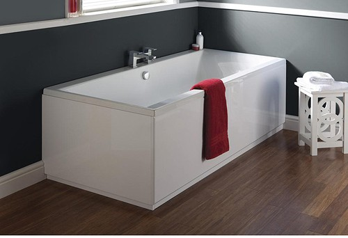 Additional image for Jetty Double Ended Eternalite Acrylic Bath. 750x1700mm.