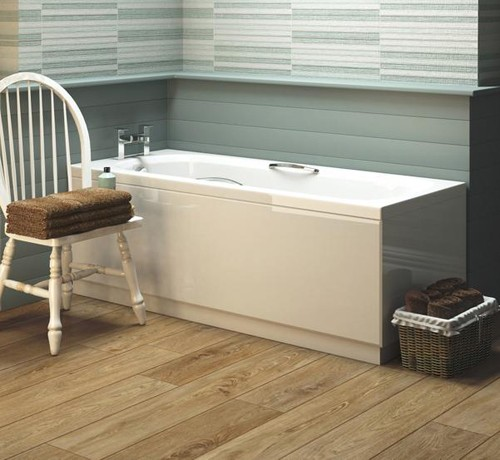 Additional image for Levee Single Ended Bath With Grips. 700x1700mm.