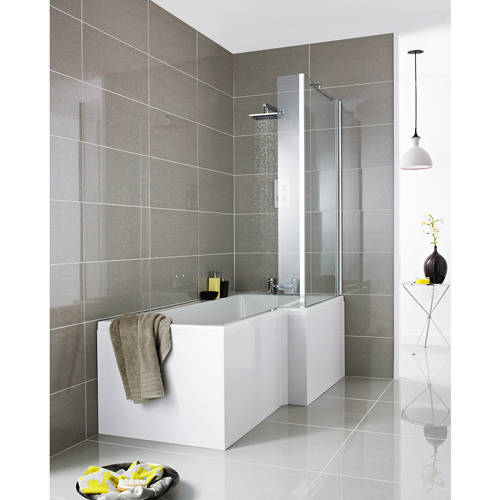 Additional image for Square 1500mm Shower Bath Only (Right Handed).