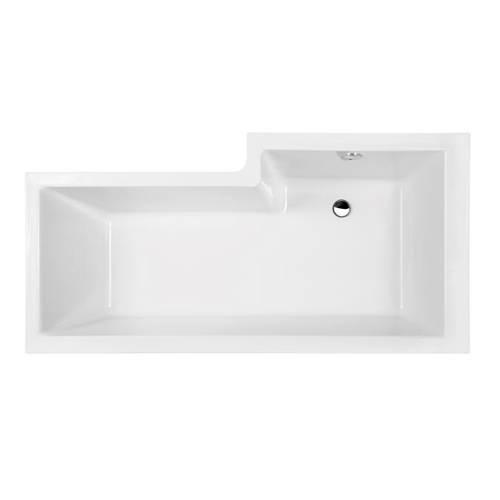Additional image for Square 1600mm Shower Bath Only (Left Handed).