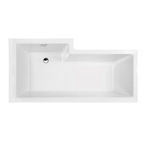 Additional image for Square 1600mm Shower Bath Only (Right Handed).