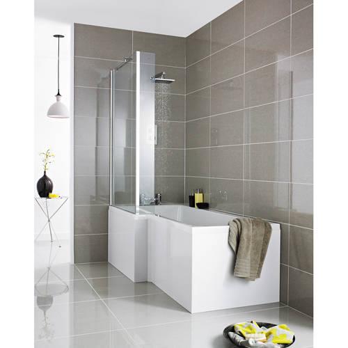 Additional image for Square 1700mm Shower Bath Only (Left Handed).