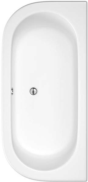 Additional image for Deluxe Double Ended Back To Wall Bath. 1700x800mm.