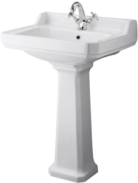 Additional image for High level Toilet With 600mm Basin & Pedestal (1TH).