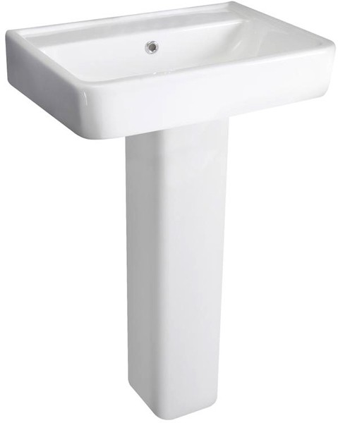 Additional image for Basin & Full Pedestal (1 Tap Hole, 520mm).