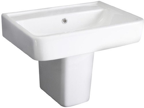 Additional image for Basin & Semi Pedestal (1 Tap Hole, 520mm).