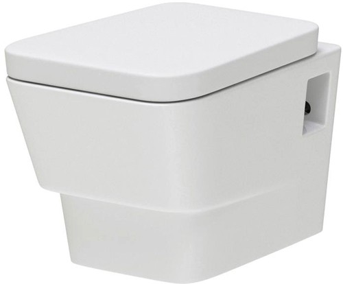 Additional image for Wall Hung Toilet Pan With Soft Close Seat.
