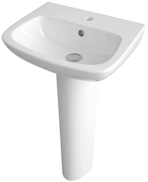 Additional image for Basin & Full Pedestal (1 Tap Hole, 450mm).