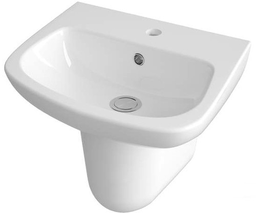 Additional image for Basin & Semi Pedestal (1 Tap Hole, 450mm).