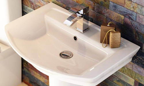 Additional image for Clara Suite With Toilet, 550mm Basin & Semi Pedestal.