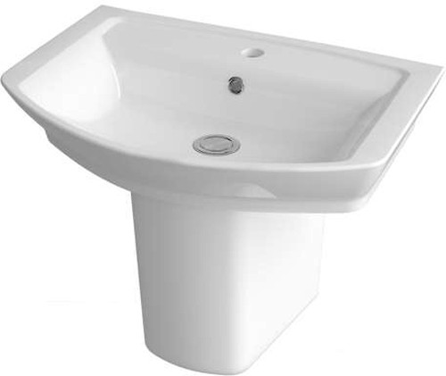 Additional image for Basin & Semi Pedestal (1 Tap Hole, 550mm).