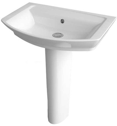 Additional image for Basin & Full Pedestal (1 Tap Hole, 650mm).