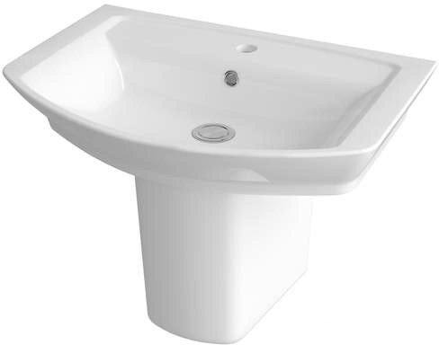 Additional image for Basin & Semi Pedestal (1 Tap Hole, 650mm).