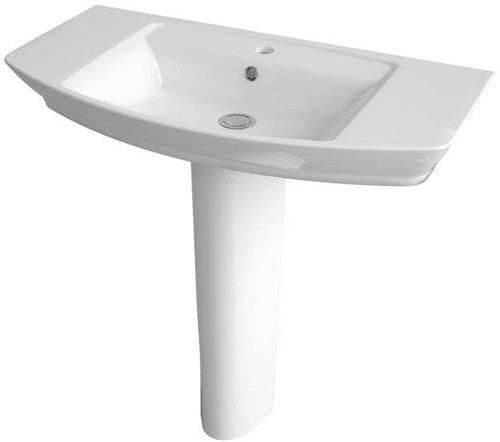Additional image for Basin & Full Pedestal (1 Tap Hole, 850mm).